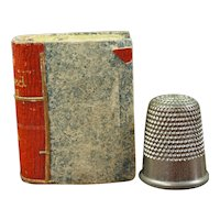 Antique Miniature Book Form Pin Cushion, Titled Pointed Jokes Vol 1, Perfect for Dolls, English, Circa 1840