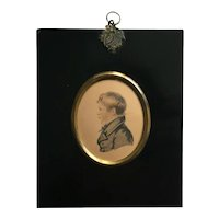 Regency A R Burt Portrait Miniature Of Boy James Allen, 1817 Oxford, England