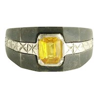 Marsh and Co Golden Sapphire Ring