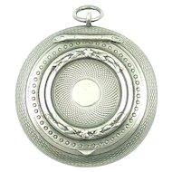 Antique Art Nouveau French Sterling Silver Chatelaine Patch Box Pendant - Gaston Bardies