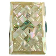 Antique Victorian Mother-of-Pearl and Abalone Carnet de Bal
