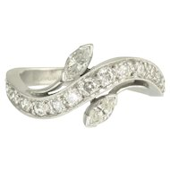 Simply Elegant Mid-Century Diamond and Platinum Ring