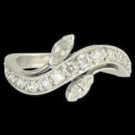Simply Elegant Mid-Century Diamond and Platinum Ring