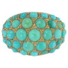 Desireable Vintage Persian Turquoise Ring in 14k