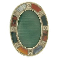 Lovely Victorian Scottish Agate Miniature Frame in Sterling Silver