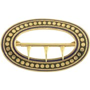 Antique Victorian 14k Gold and Enamel Buckle