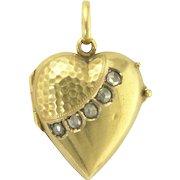 Antique Victorian Rose Cut Diamond and 15k 15ct Heart Locket