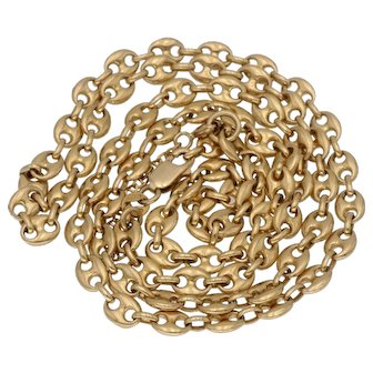 18k Gold Vintage Italian Mariner Anchor Chain - 30 Grams 24 Inches