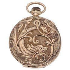 Antique Victorian Gruen Waltham Griffin Pocket Watch in 14k Gold