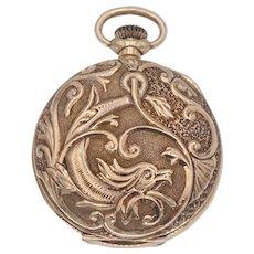 Antique Victorian Gruen Waltham Griffin Pocket Watch in 14k Gold