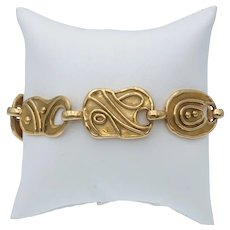 Stylish Elizabeth Gage Estate Jordanian Link Bracelet in 18k