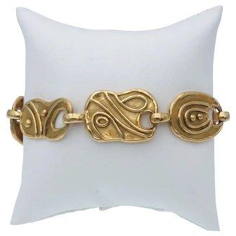 Stylish Elizabeth Gage Estate Jordanian Link Bracelet in 18k