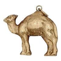 Vintage 18k Gold Camel Charm Pendant