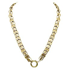 Antique Victorian 14k Gold Book Chain Necklace - 27.4 grams