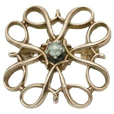 Charming Vintage Scatter Pin in 10k Gold