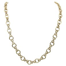 Handsome Vintage Chain in 14k Yellow Gold