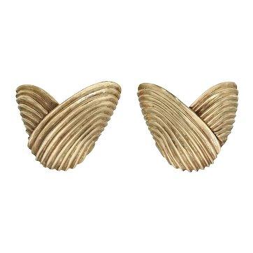 Vintage Clip On Earrings in 14k Gold