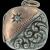 Antique Platinum 14k Rose Gold Diamond Repousse Locket