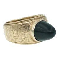 Vintage Sugarloaf Onyx Ring in 18k Gold