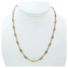 Antique Art Nouveau Chain Necklace in 18k Gold