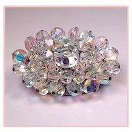 Aurora Borealis Crystal Bead Brooch