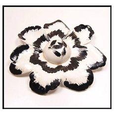 Big Bold Beautiful Vintage Paper Mache Flower Brooch