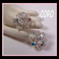 Coro Aurora Borealis Crystal Earrings