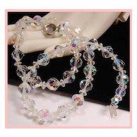 Aurora Borealis Crystal Necklace TLC