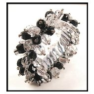 Black & Clear Crystal Cha Cha Expansion Bracelet