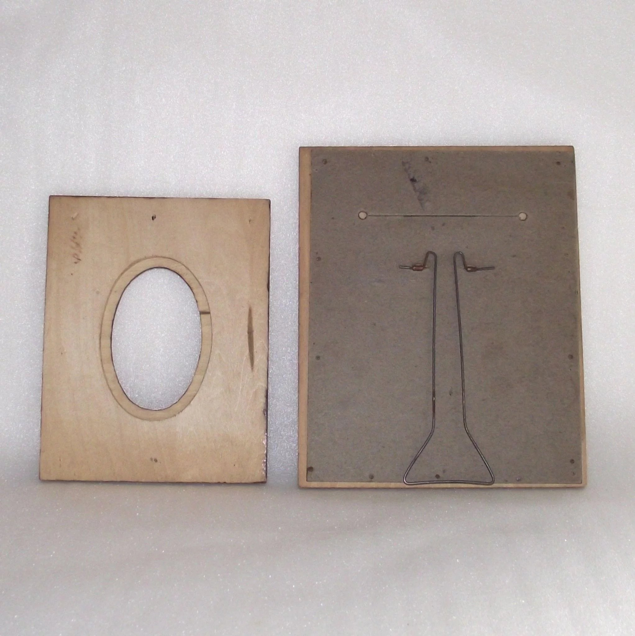Pyrography Picture Frame With Easel Back Stand Grapes Bonnie
