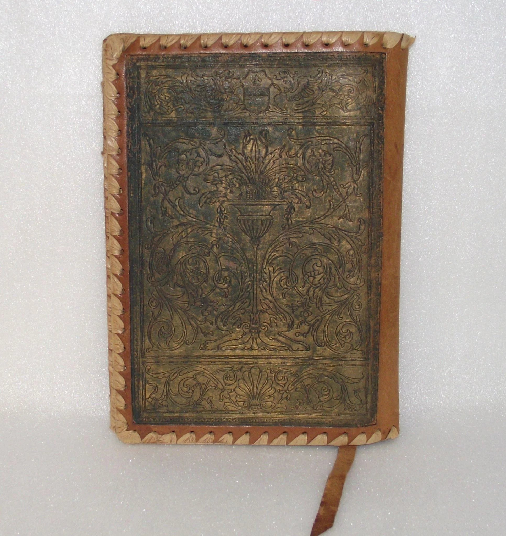 Vintage Leather Book Cover : Vintage leather book cover hand made printed bible