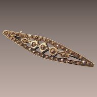Vintage Art Deco Sterling and Marcasite Bar Brooch