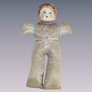 Antique Pin Cushion Doll With Porcelain Head