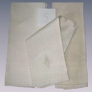 Victorian Hand Towels Group of Three all White group number 5