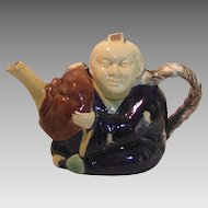 Minton Majolica Chinese Actor Teapot Circa 1870s
