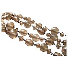 Vintage Venetian Glass Gold Foil Bead Necklace