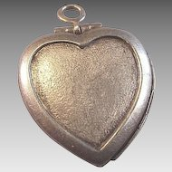 Vintage Sterling Puffy Heart LOCKET Charm Perfect for Engraving