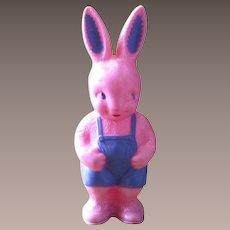 Mid-Century Hard Plastic Irwin Easter Bunny Rabbit  Rattle 1950's