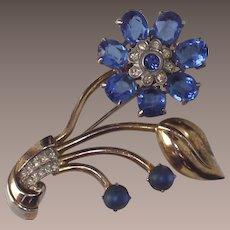 Vintage Corn Flower Blue Floral Brooch A 1950s Beauty