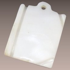 Vintage Victorian Mother of Pearl Fob Book Shape