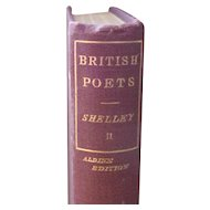 Vintage Shelley The Poetical Works of - Aldine Edition Volume II 1819