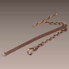 Vintage Watch Chain Ladies Gold Tone