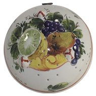 Vintage Italian Faience Fruit Colander Bowl