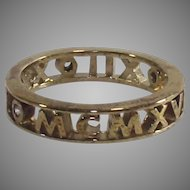 Vintage Hidalgo Ring size 6 Gold Wash over Sterling Three Small Diamonds