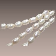 "Vintage Baroque Freshwater Potato Pearl Necklace 18"" Long"