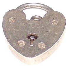 Silver Padlock For Charm or Fob Bracelet