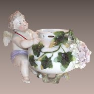 Victorian German Porcelain Cherub Rose Bowl 19th Century