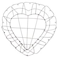 Victorian Heart Shaped Wire Basket
