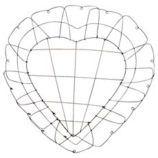 Victorian Heart Shaped Wire Basket