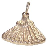 Vintage Fan Charm Fob Ladies Victorian Era